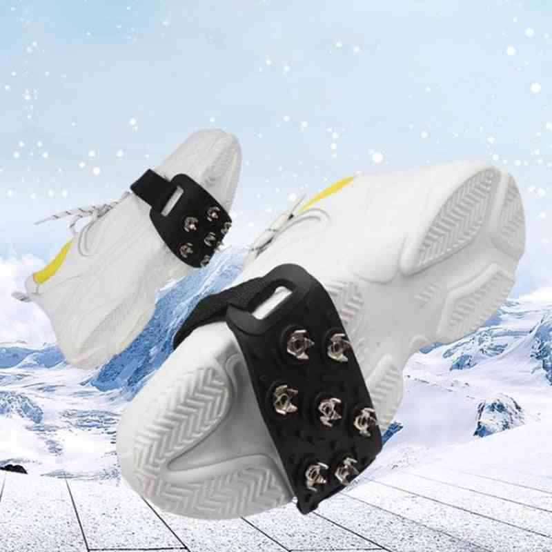Unisex Winter 7 Tooth Shoe Spikes Alloy Anti-ice On Shoe Spikes