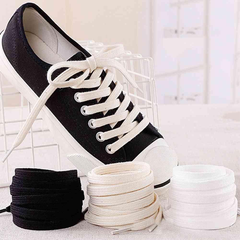 1 Pair Cotton Flat Shoe Laces For Canvas