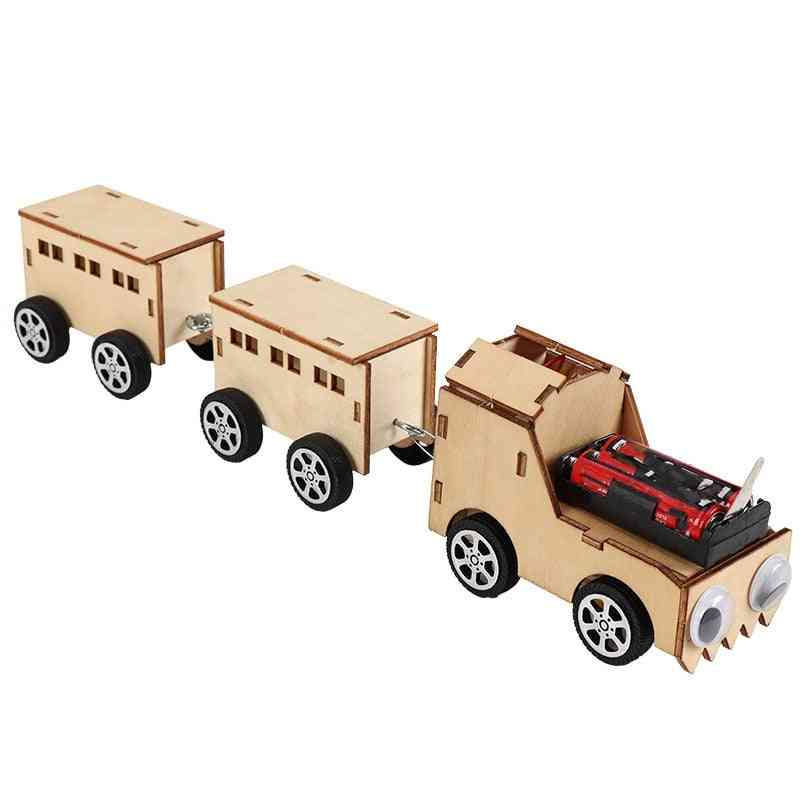 Diy Model Rc Trains, Simple Educational Handcraft Puzzle Toy Train For.