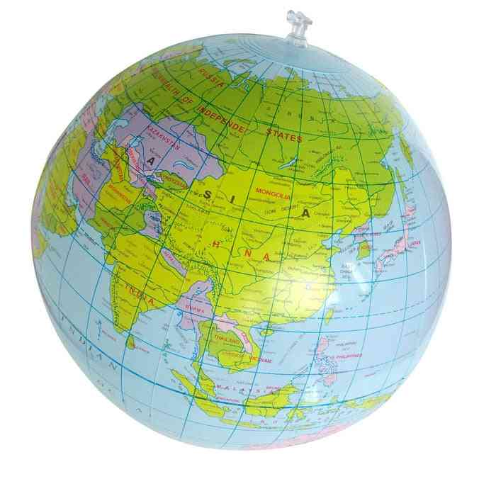 Inflatable Blow Up World Globe, Earth Map, Ball Educational Planet, Ocean Kid Learning, Geography Toy Home