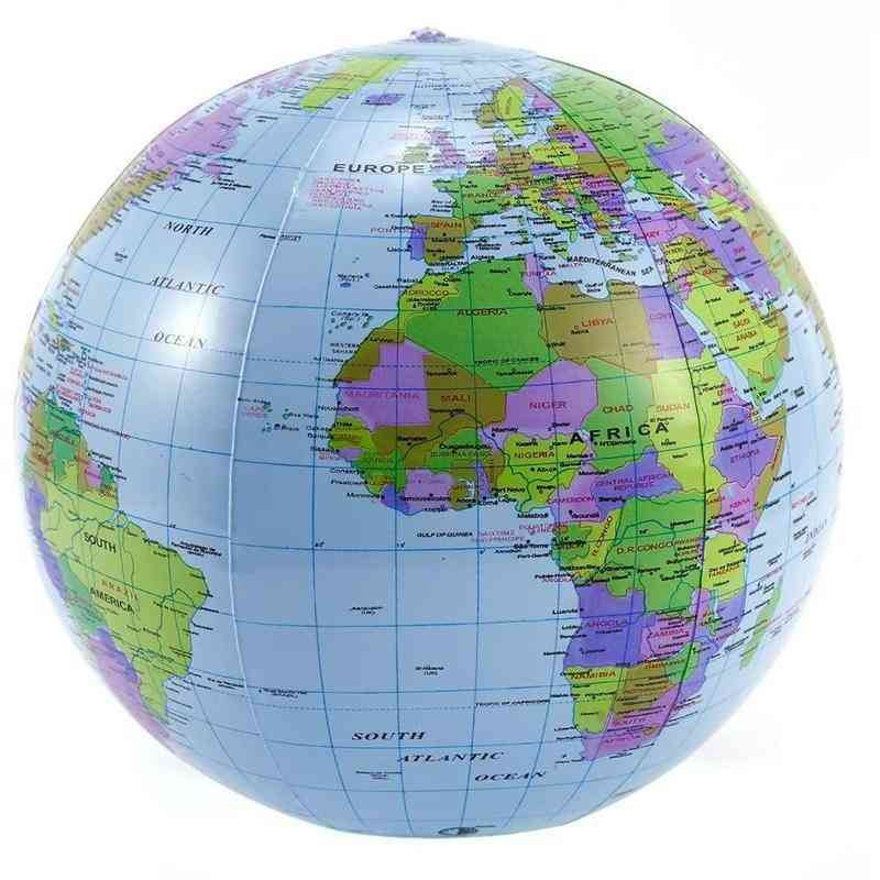 Inflatable Globe, Education Geography Toy Map, Balloon Beach Ball, Develop Intelligence, Non-toxic Materials, Pvc Durable