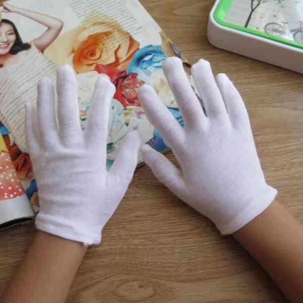 Children's White Cotton Gloves