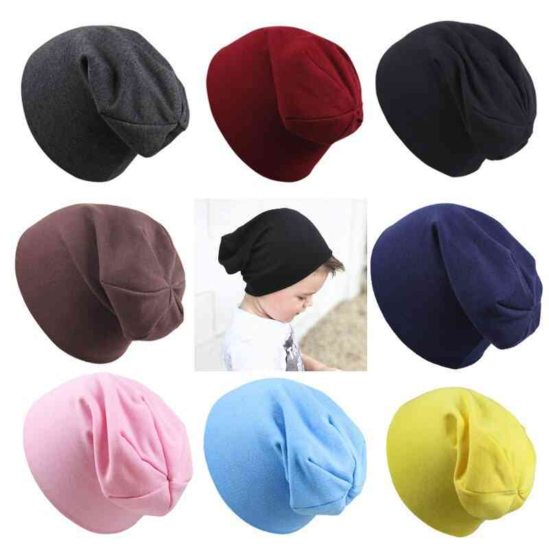 Children's Fashion Cute Solid Color Knitted Cotton Hat