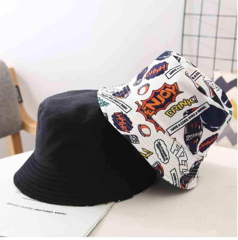 Two Side Reversible Coke Drink Bucket Hat For Kids