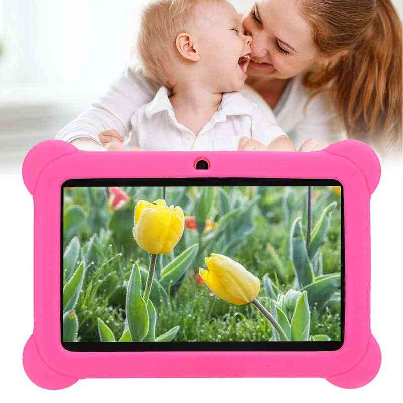 Hd Kid Tablet With Case 16:9 Portable Mini Pc Computer 1+8g 100-240v Support Wifi 32g Memory Card Video Playback