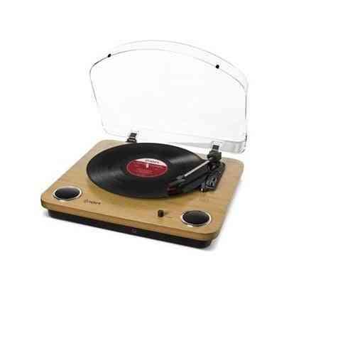 Ion Max Lp Speaker Wooden Turntable