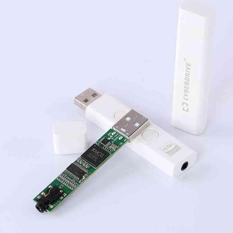 Xmos+cs4398 Portable Audio Decoder Usb Sound Card Dsd 256 Audio Hifi Decoding Hi-res 192khz / 24bit