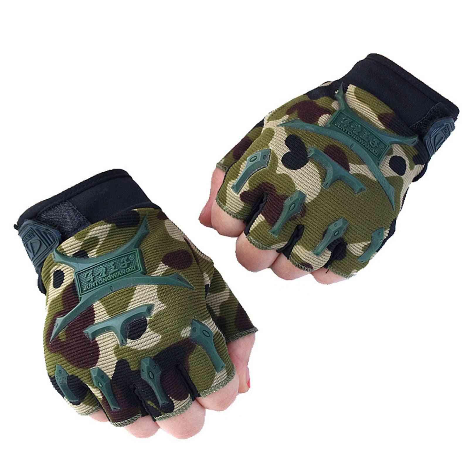 Half-finger Camouflage Gloves For