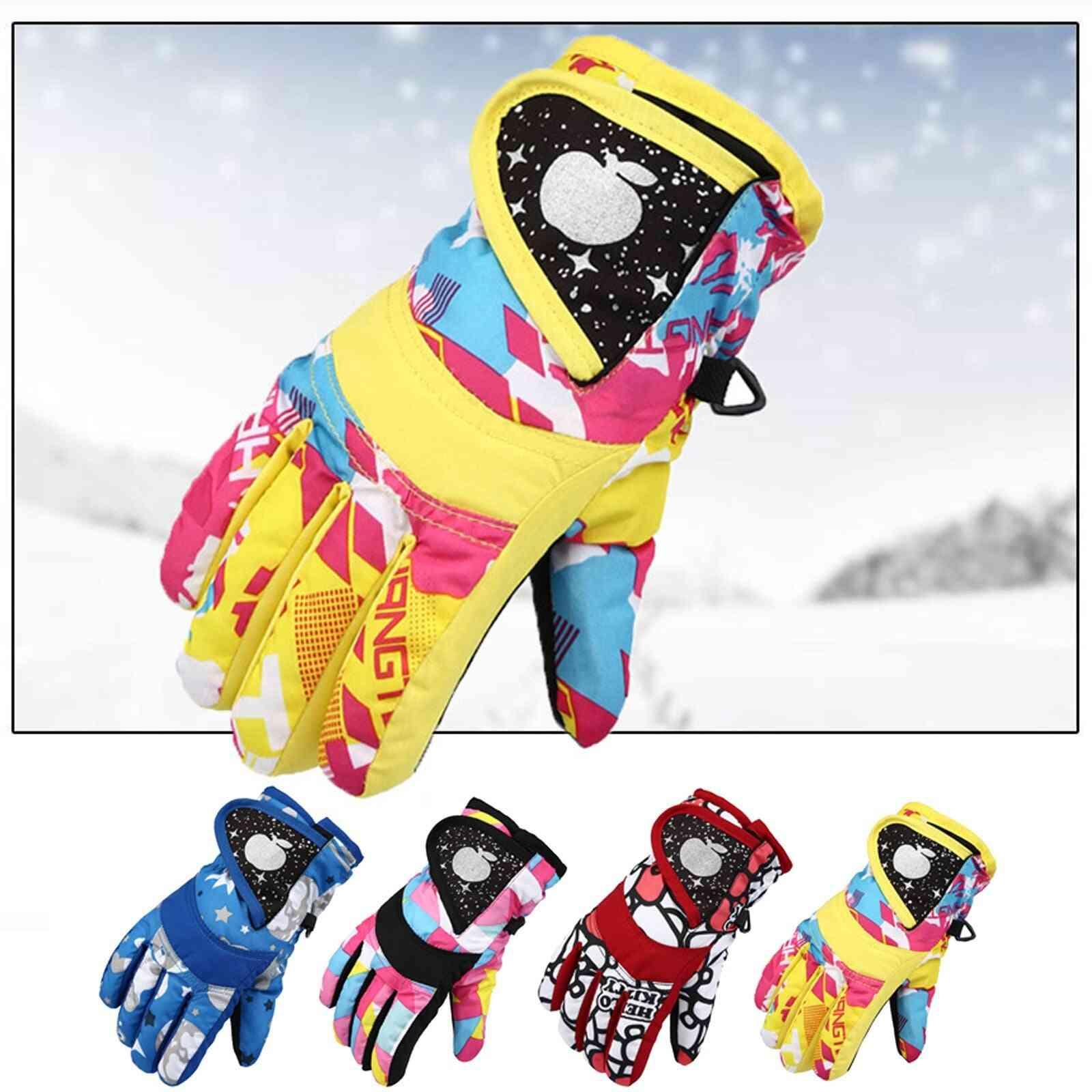 Kids Snow Windproof Mittens Outdoor Sports Skiing Gloves
