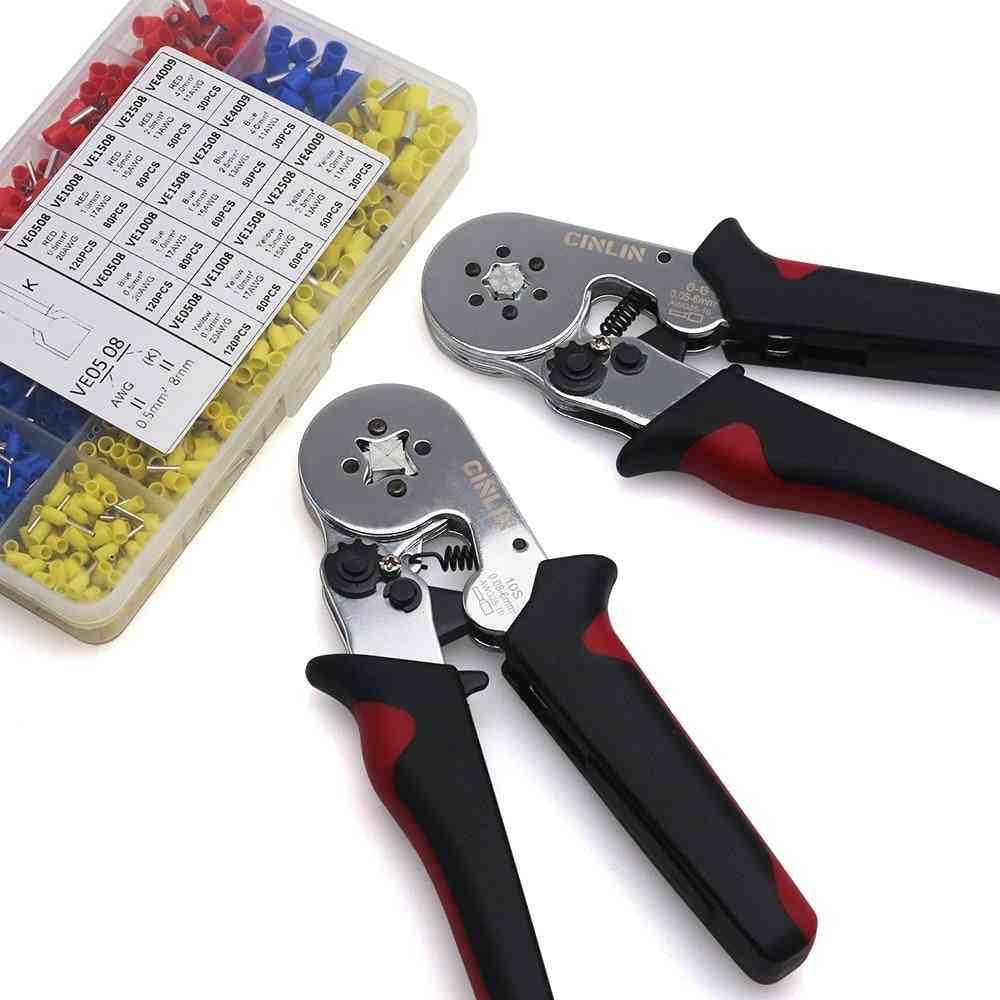 Crimping Pliers & Terminals Set Hand Tool