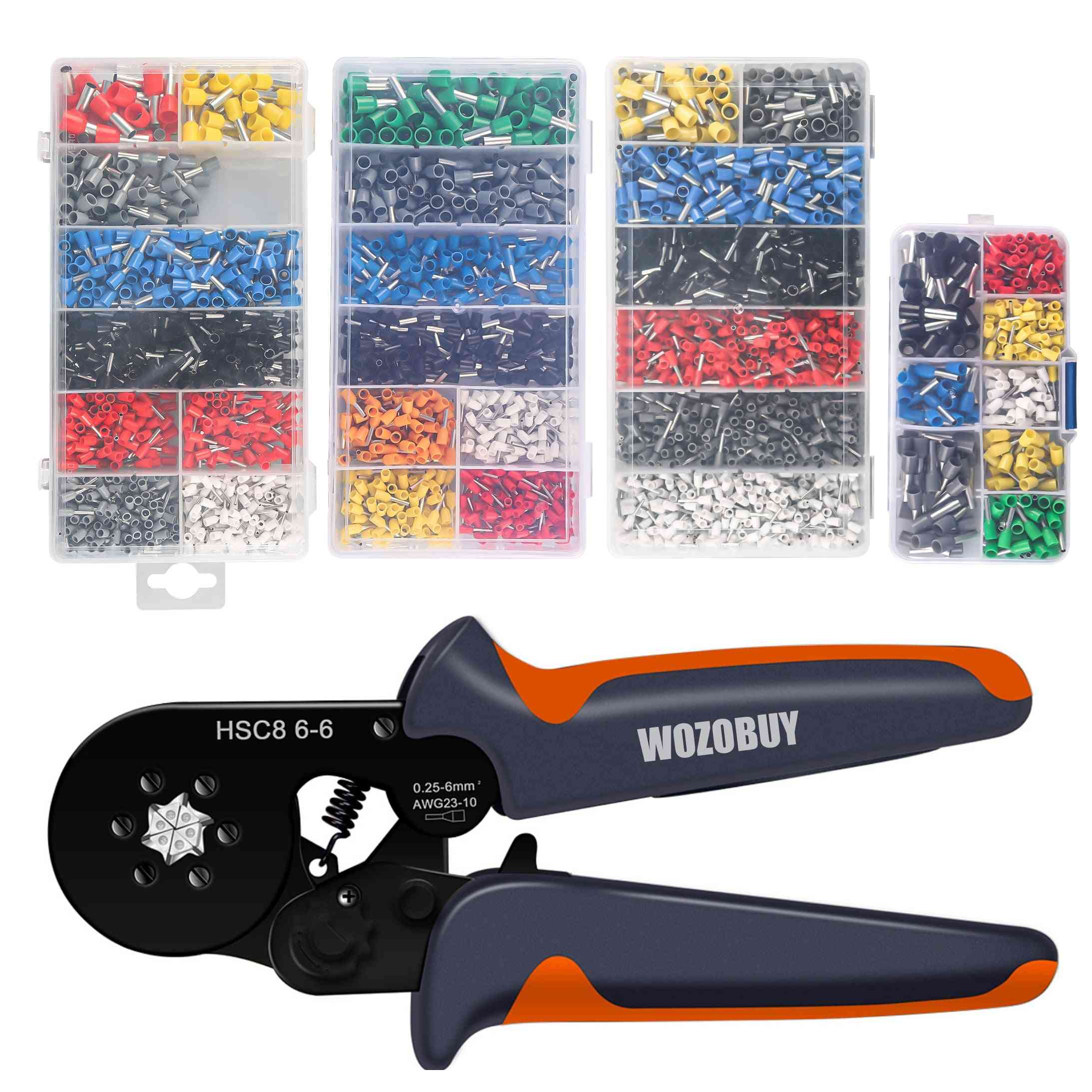 Self-adjustable Ratchet,ferrule Crimping Tool Kit