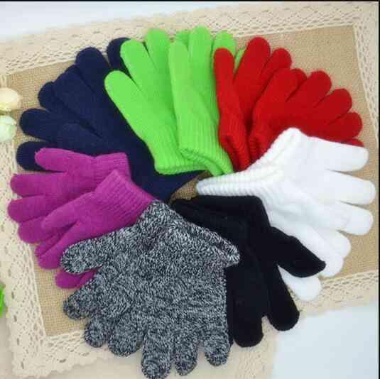 Kids 3-7 Year Acrylic 2 Pair Winter Gloves