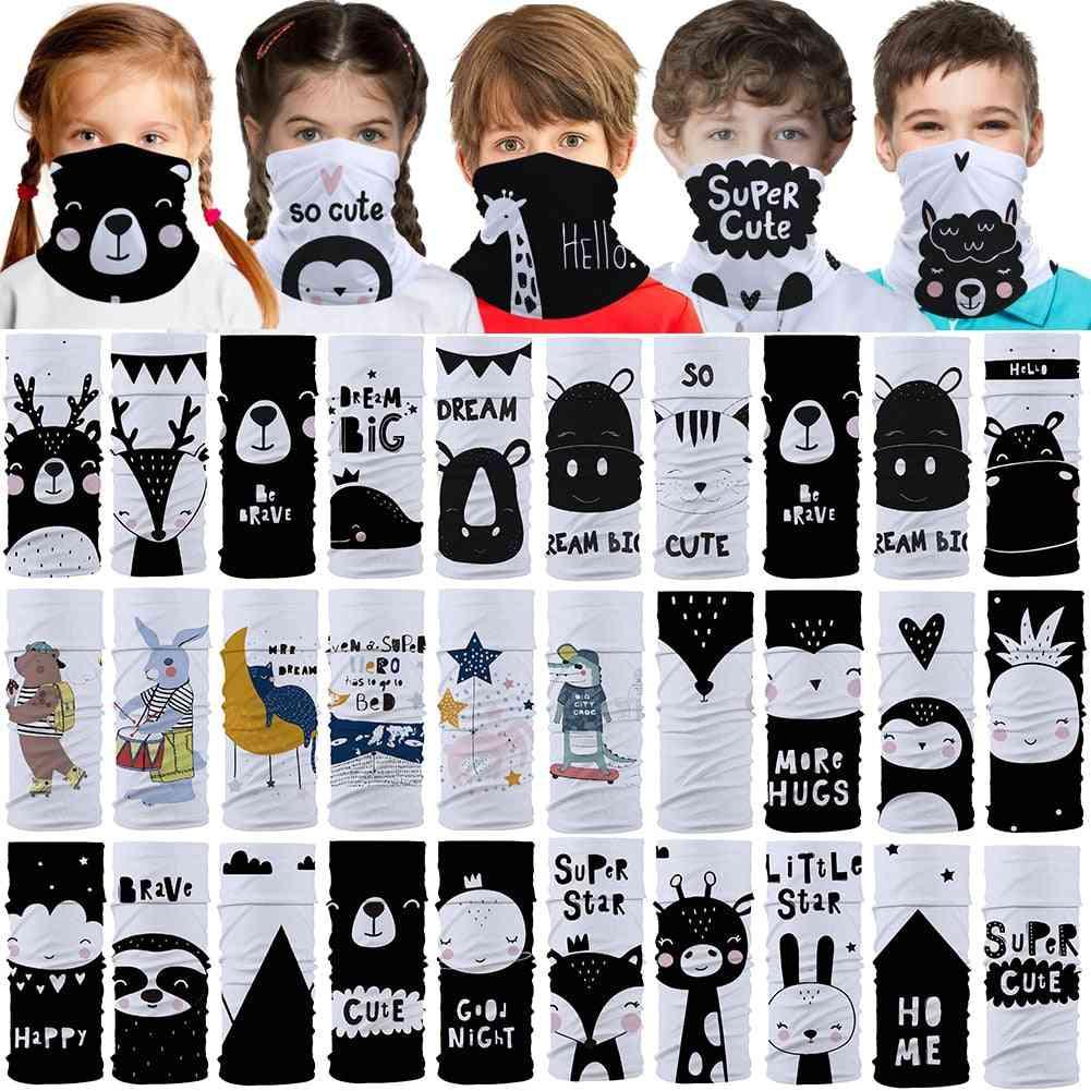 Cute Little Animals Kids Seamless Bandana Headband Face Neck Tube Scarf