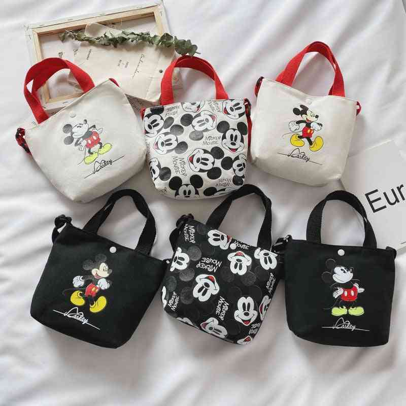 Backpack Mickey Minnie, Diagonal Shoulder Bag, Canvas Small Coin Purse