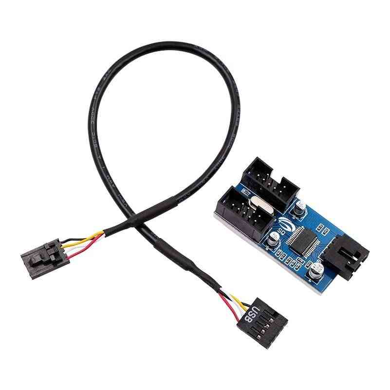 Motherboard Usb 9pin Interface 1 To 2 Extension Cable