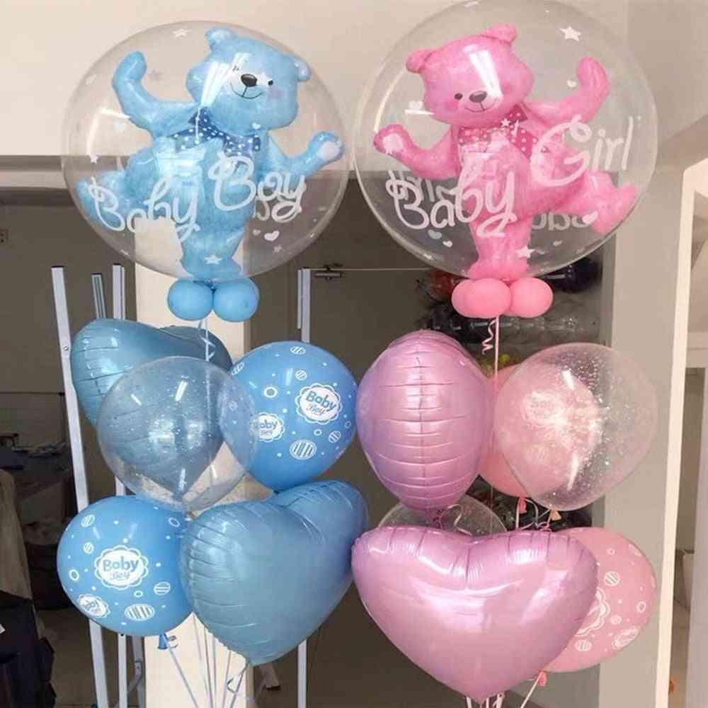 Bubble Bear Aluminum Foil Helium Balloons, Boy, Girl Wedding Decoration, Birthday Baby Shower Theme, Party