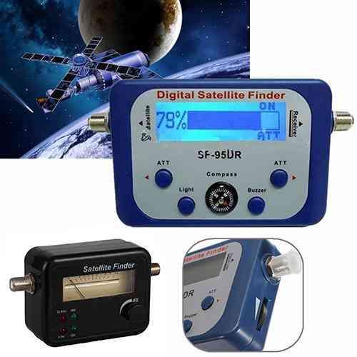 Portable Digital Lcd Satellite Finder Signal Strength Meter Sky Dish 950-2150mhz
