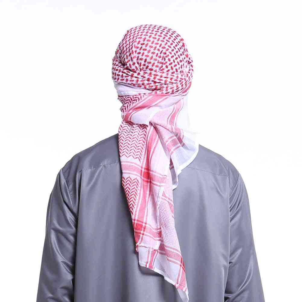 Muslim Headwear Adult Men Arab Head Scarf