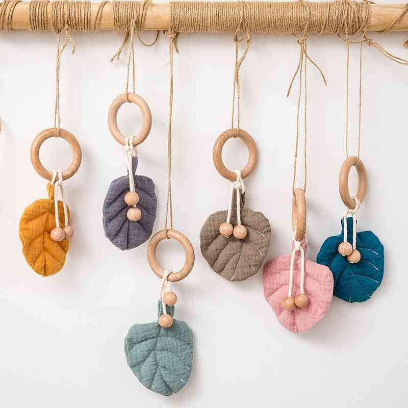 Wooden Bells, Stroller Baby Hanging, Rattle Ring Infant Crib Toy, Newborn Educational Hanger Pram