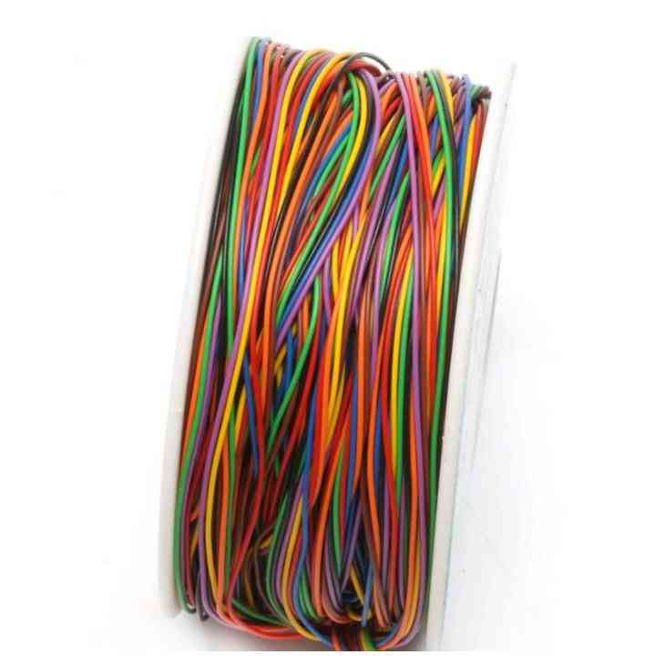 One Roll 8 Colors 30awg Wire Wrapping Wire, Pvc Insulation