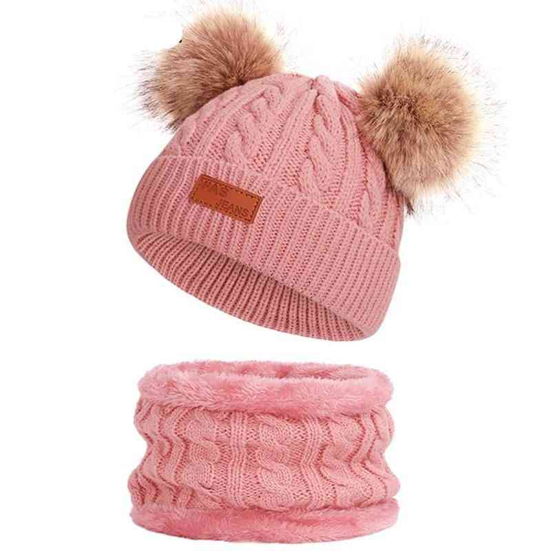 2 Pieces Winter Hat Scarf For