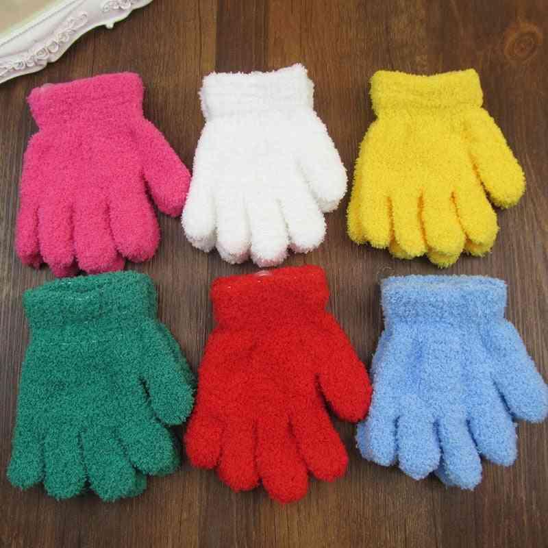 Kids Full Finger Gloves Hand Mittens Warm Winter