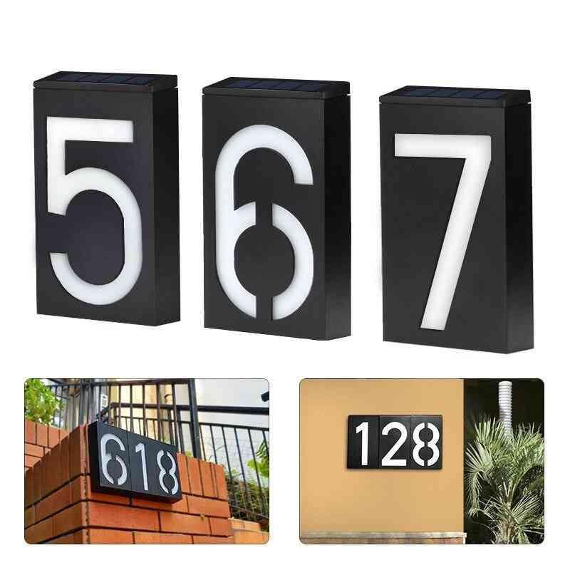 Solar Address Number Plate Sign Lamp