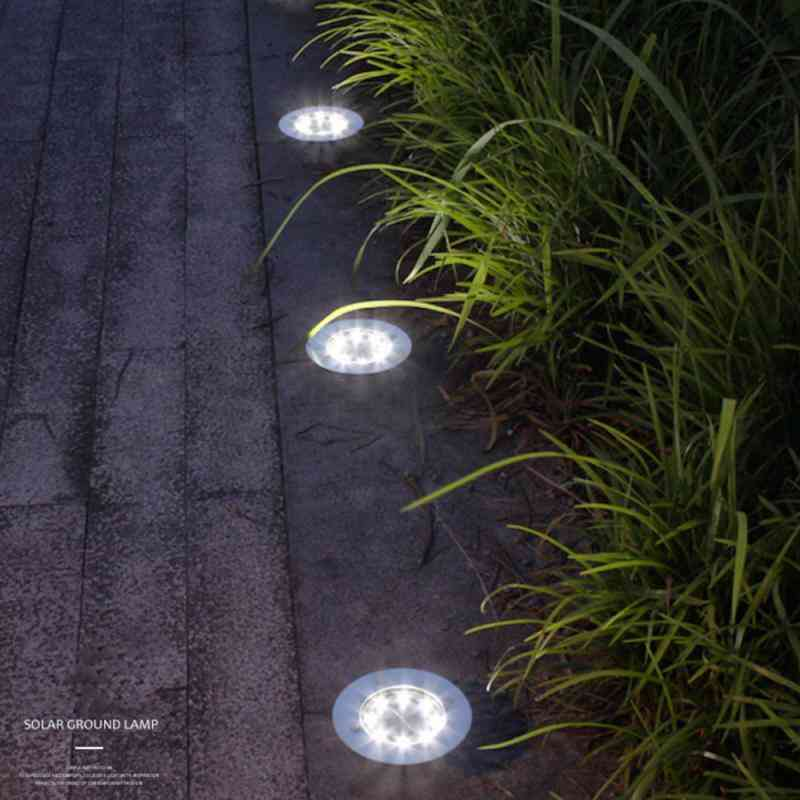 Solar Powered Buried Outdoor Waterproof Led Landscape Lamp