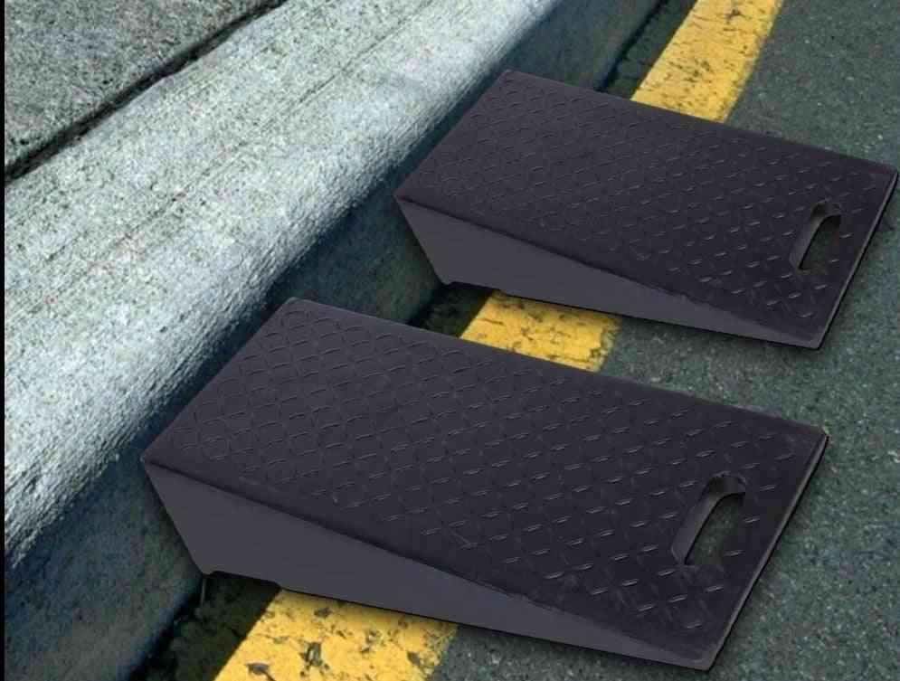 Rubber Curb Ramps For Car Motorbike Wheelchair Threshold Ramp 60 × 30 × 19cm