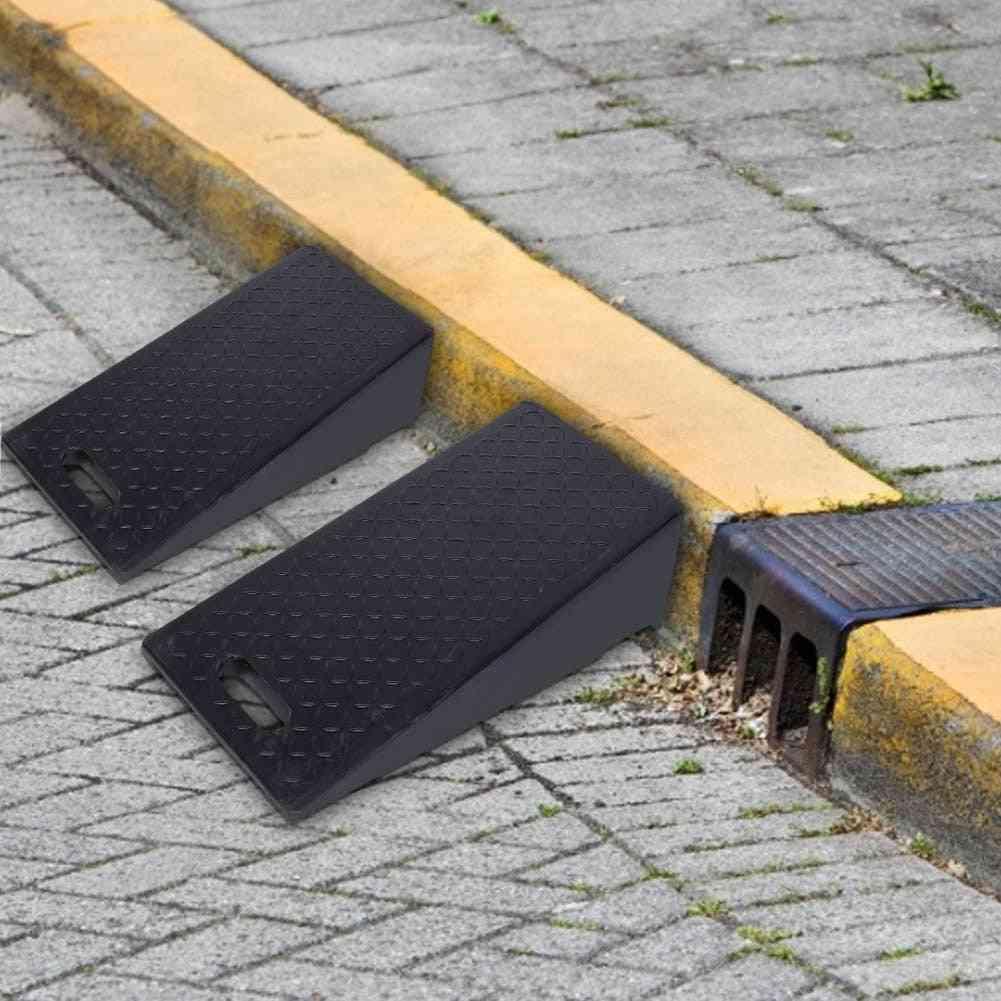 Portable Rubber Curb Ramps For Car Motorbike Wheelchair Threshold Ramp 60×30×19cm