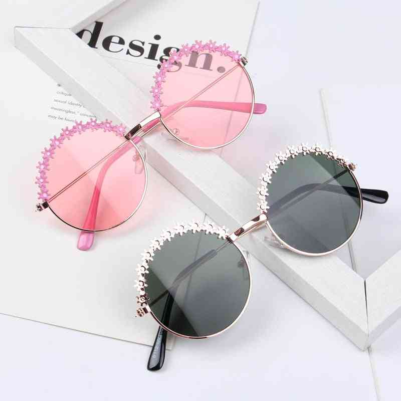 Kids Polarized Metal Frame Sun Glasses