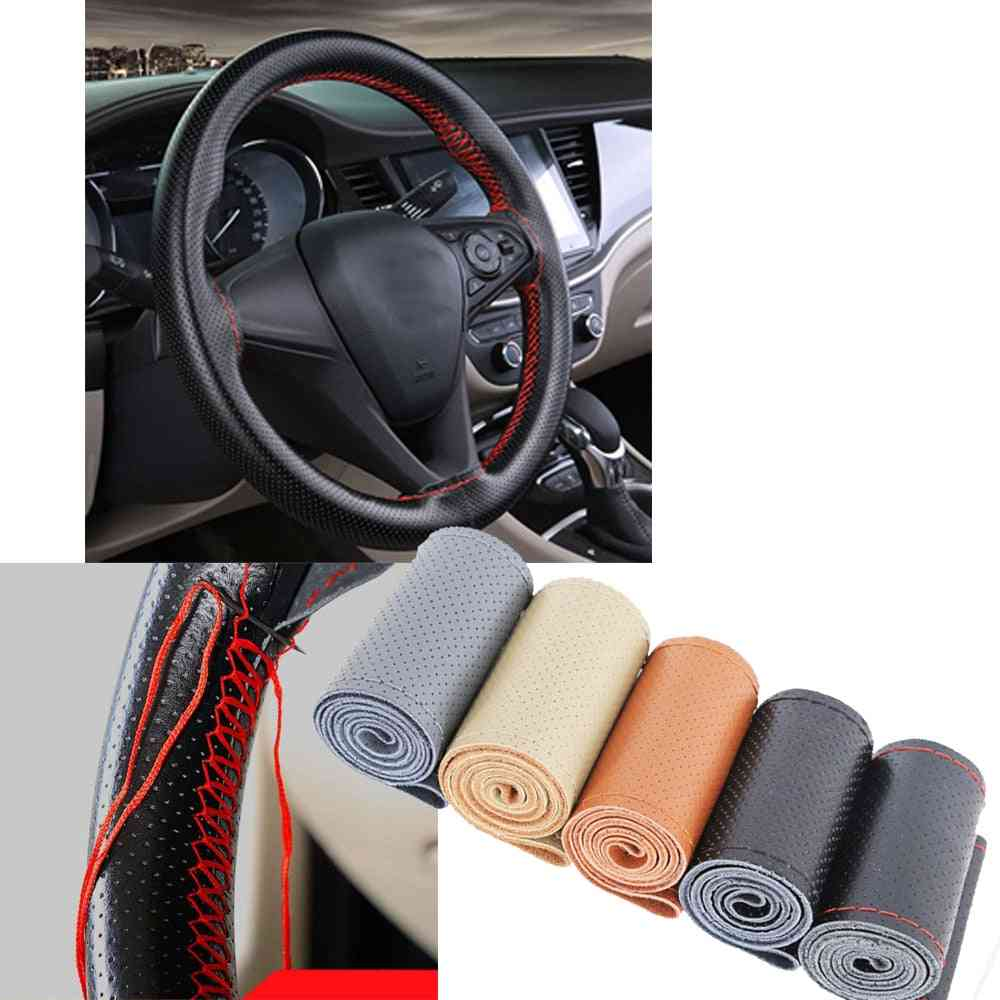 For 38cm Car Steering Wheel Braid Cover