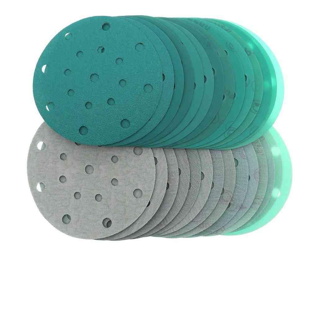 Sanding Discs Holes Wet Dry Film-backed Green Line Hook And Loop