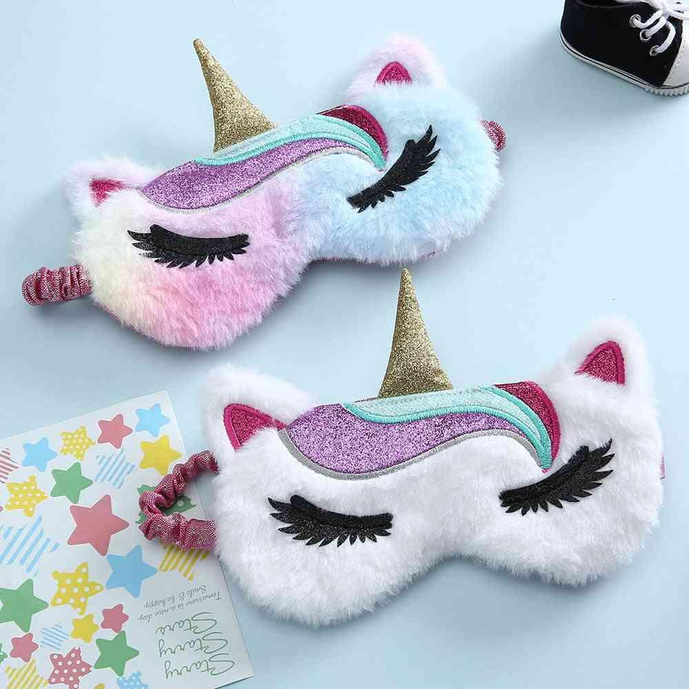 Women Winter Travel Cute Soft Animal Eye Cover Mask