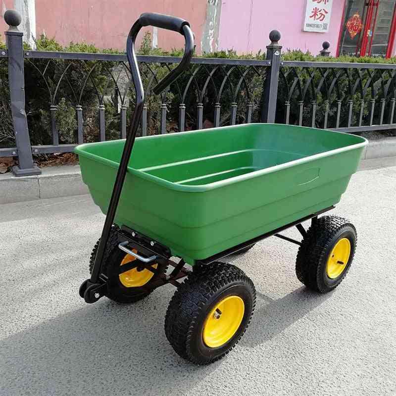 Multipurpurse Utility Wagon Yard Dump Cart, Shopping Trolley, Hand Truck