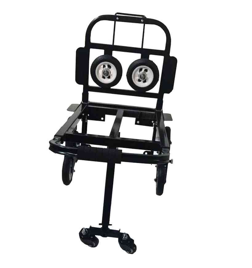 Foldable Folding Stair, Climbing Hand Truck, Luggage Cart, Backup With Turning Wheel