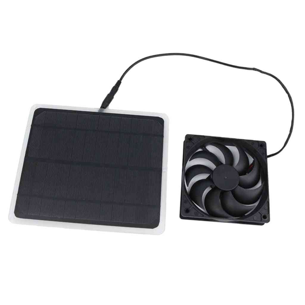 Mini Solar Panel Powered Exhaust Fan, Portable Ventilator, Easy To Carry