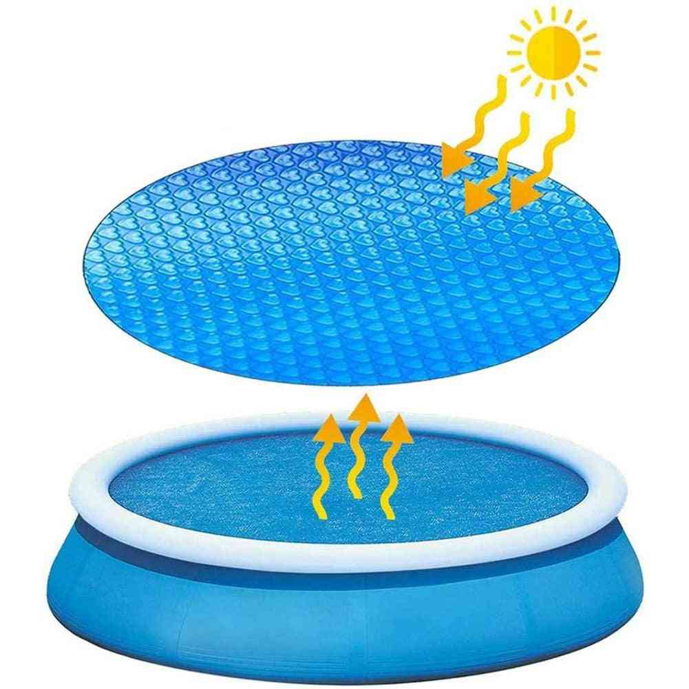 Pool Cover, Swimming Round Solar Protector, Waterproof, Dustproof, Rope Insulation Film, Home Accessor