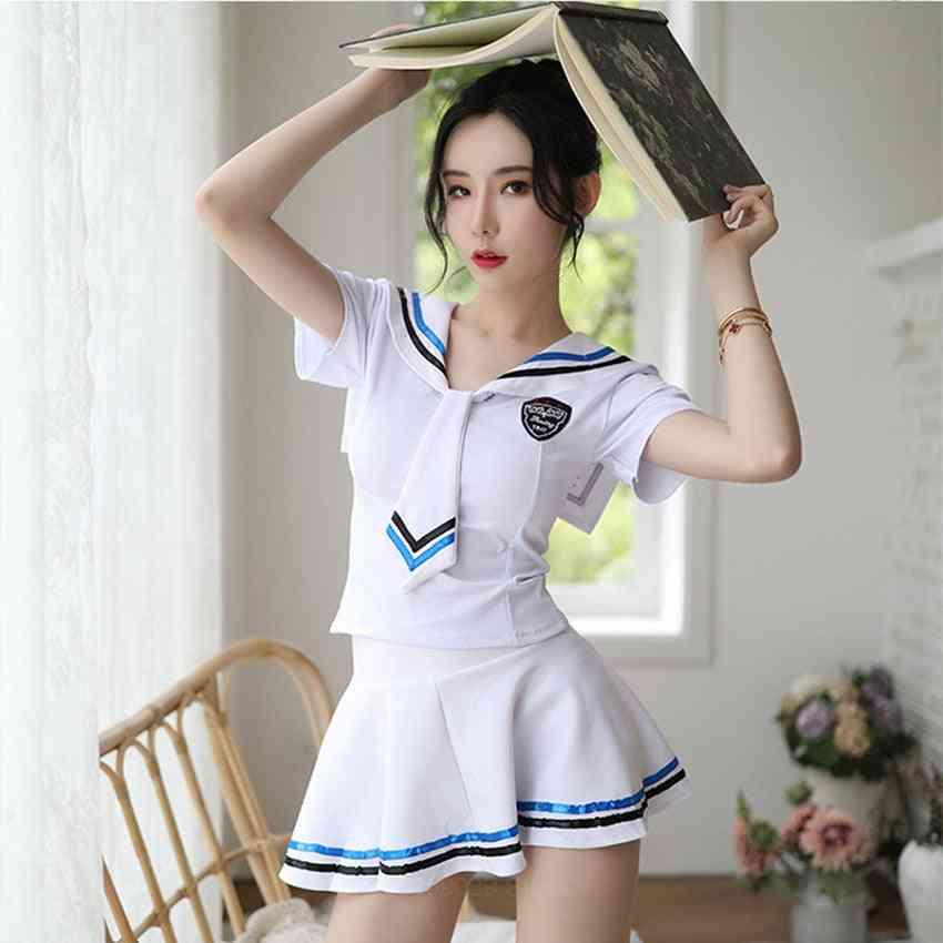 Mini Skirt Uniform Sailor Suit