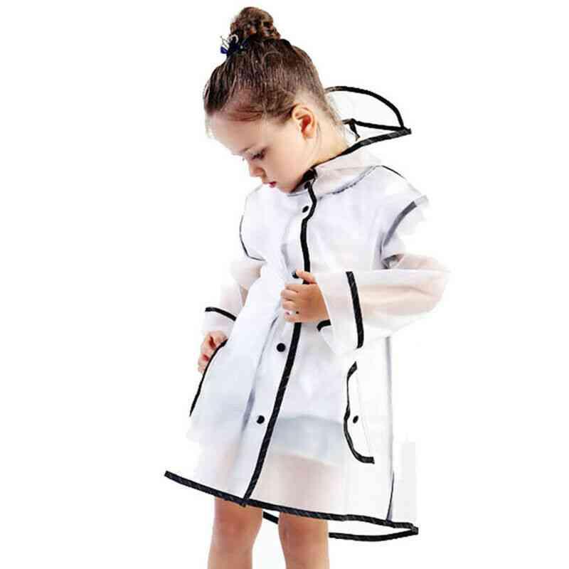 Eva Kids Raincoat, Waterproof, Rain Poncho Clear, Transparent, Tour Student Rainsuit, Protective Covers