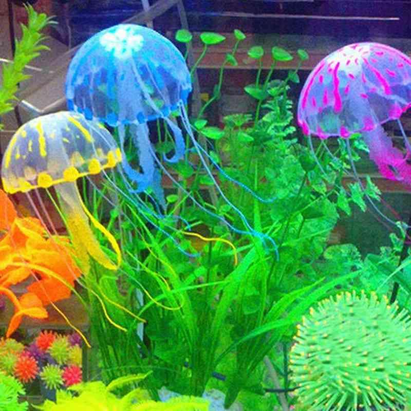 Glowing Effect Artificial Jellyfish, Fish Tank Aquarium Decoration, Submarine Ornament, Underwater Pet Decor, Glow Luminous