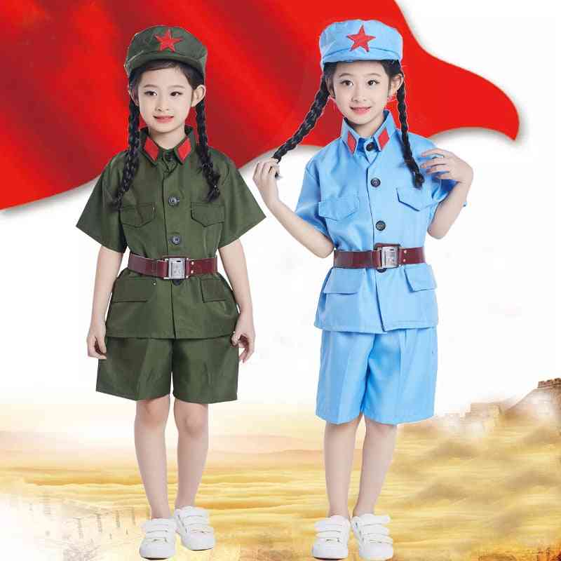 Chinese Red Army Clothing For Child Cosplay Military Uniform  0637