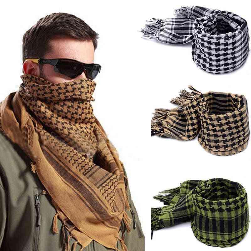 Men Winter Military Windproof Scarf Muslim Hijab