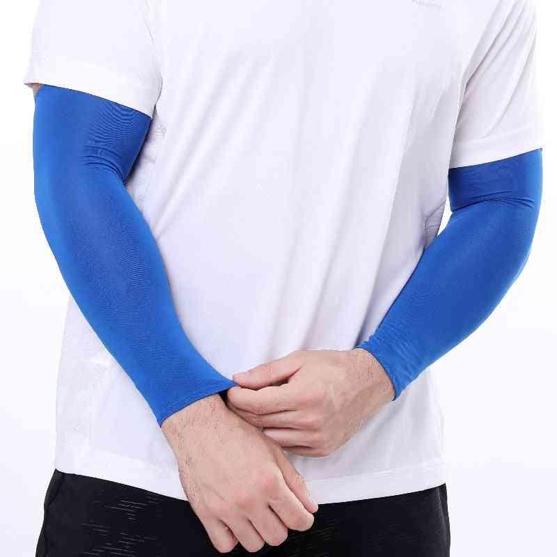 Unisex Fingerless Sunscreen Arm Sleeves