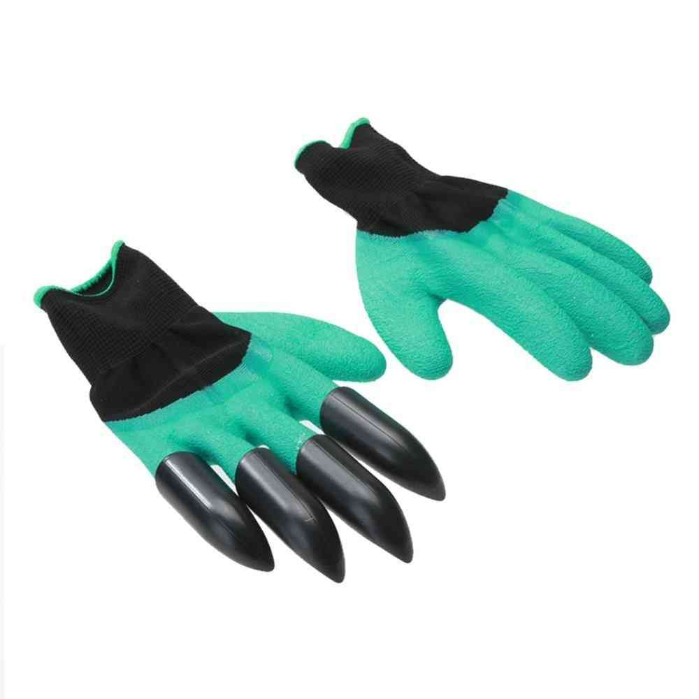 1 Pair Garden Gloves With Fingertips Claws