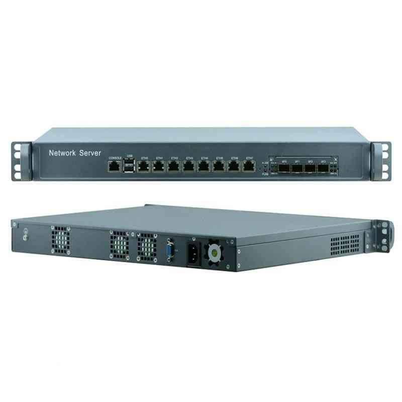 19 Inch Standard 1u Server Core I5 8400 With 8*nics And 4*fiber Sfp10000m Lan