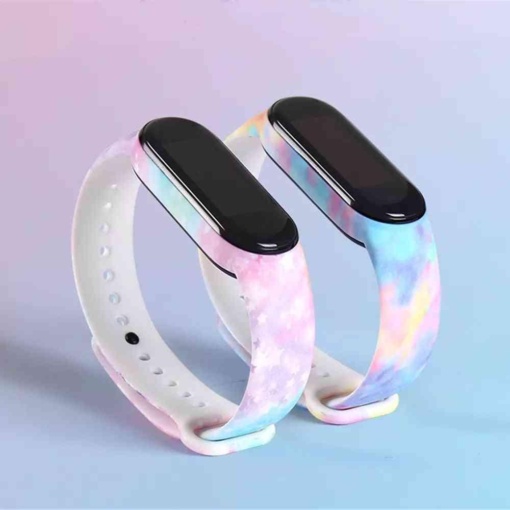 Bracelet For Xiaomi Mi Band 5 6 Band 4/3 Strap Silicone Wristband Tpu Strap