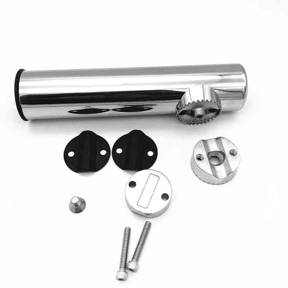 Marine Hardware Stainless Steel Fishing Rod, Holder Rack Support For Rail, Boat Accessories