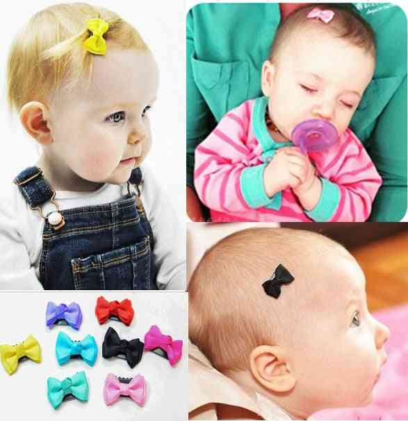 Candy Color Baby Mini Small Bow Hair Clips For