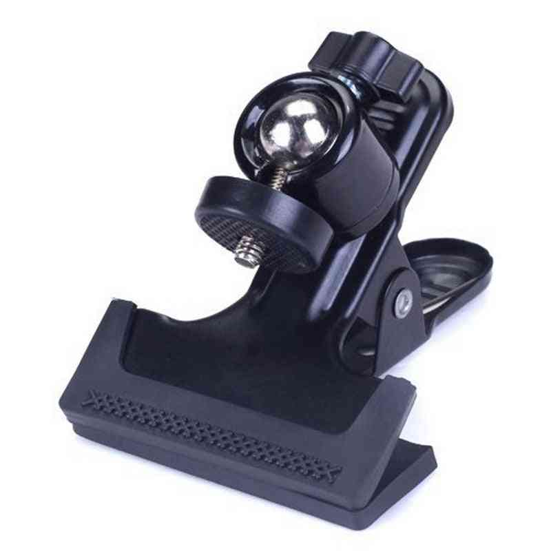Camera Holding Mount Multi-function Clip Clamp Holder Mount With Standard Ball Head 1/4 Screw For Flash Light Stand Accessary